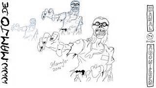 zombie zeichnen tutorial crazy mamjo viyoutube com