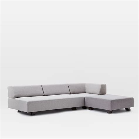 tillary sectional tillary 174 6 piece sectional feather gray chenille tweed