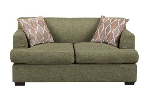 poundex montreal v f7977 green fabric loveseat a