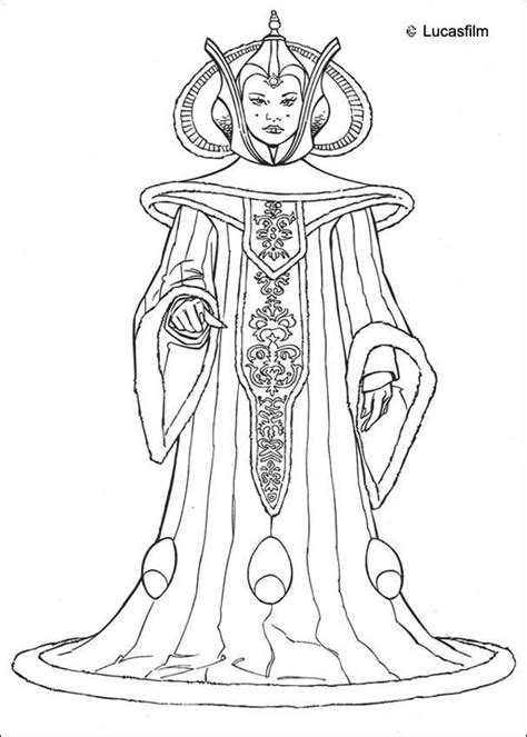 Star Wars Queen Amidala Coloring Page | queen amidala coloring pages hellokids com
