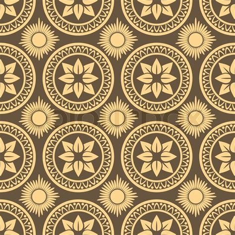 brown royal pattern retro seamless circle background vintage wallpaper texture