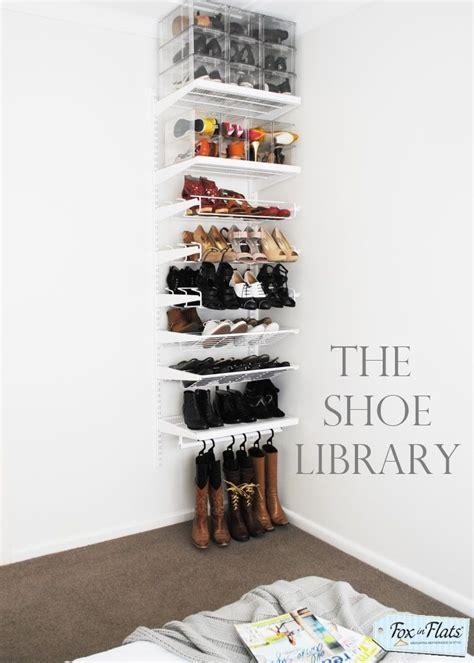 Vertical Shoe Racks For Closets by Best 25 Vertical Shoe Rack Ideas On Shoe