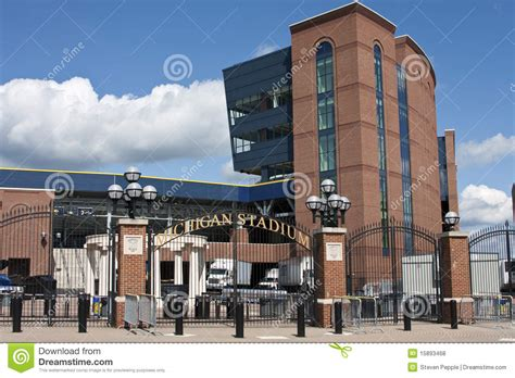 stadium house music michigan stadium the big house editorial stock photo image 15893468