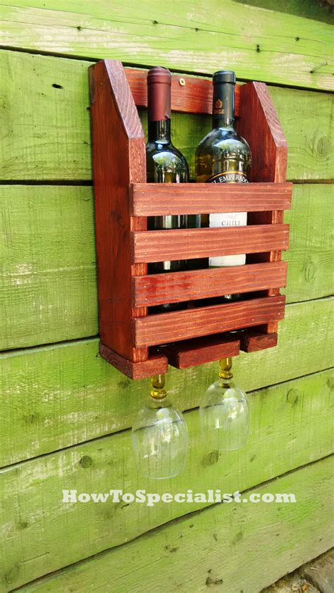 Diy Wine Rack Plans by How To Build A Wine Shelf With Glass Rack