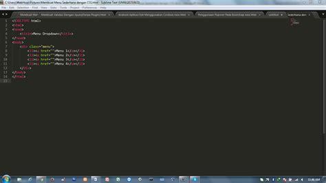 membuat menu dropdown sederhana dengan css membuat menu sederhana dengan css webhozz blog