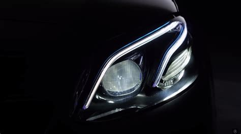 class a light mercedes benz sheds some light on the new e class with a