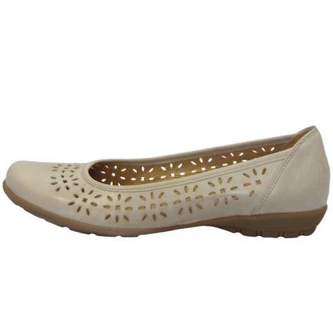 ledies leser cutting gabor shoes boaz womens laser cut pumps in beige mozimo
