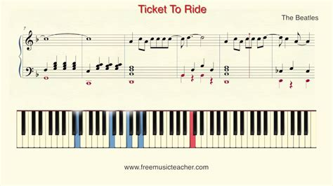 knocking on heaven s door piano tutorial how to play piano the beatles quot ticket to ride quot piano
