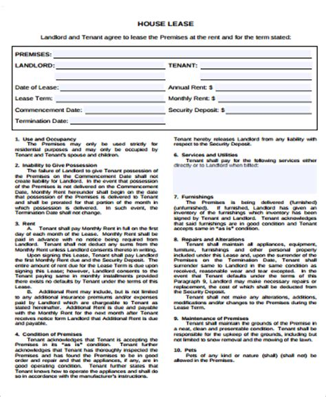 home lease agreement home lease agreement 8 free documents in word pdf