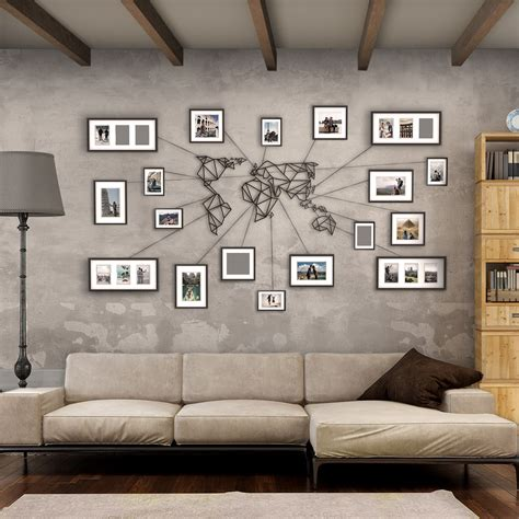 Black And White Bedroom Ideas by New Metal Wall Art World Map Hoagard