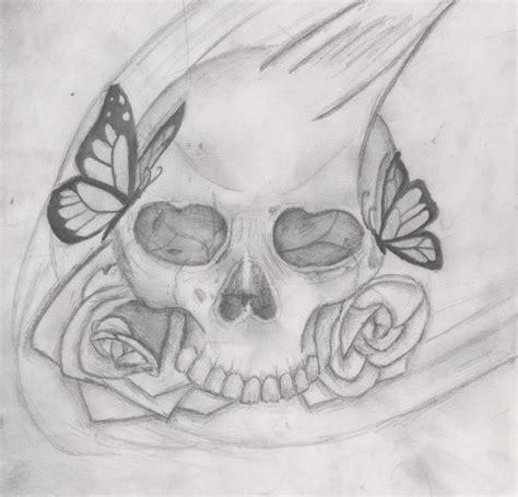 imagenes de calaveras besandose calavera mariposas por zahira dibujando