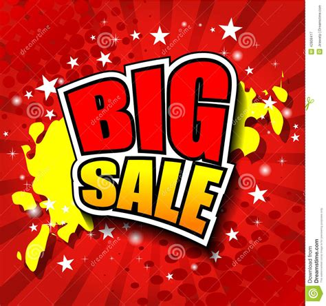 Big Images big sale vector illustrator eps 10 stock vector image
