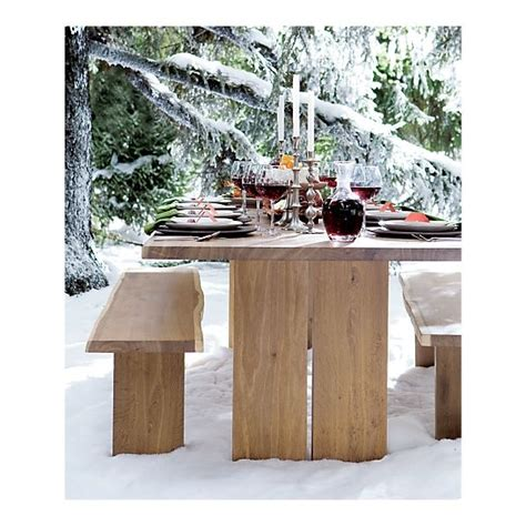 crate and barrell bench i still like this table anyone know where to find a more