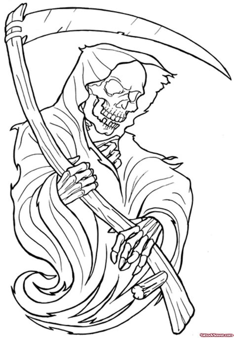 tattoo outline tattoo outlines pinterest tattoo attractive outline grim reaper tattoo design tattoo