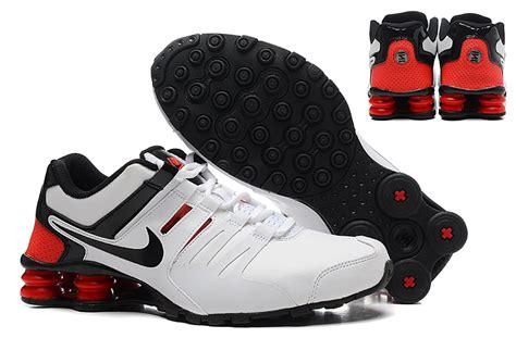 nike shox tennis shoes s nike shox current black white tennis shoe nike