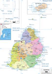 mapquest map of detailed political map of mauritius ezilon maps