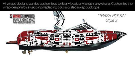 trash polka boat the trash polka style 3 boat wrap kit