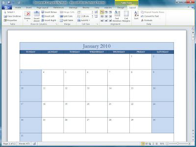 Office 2010 Office 2010 Calendar Templates Microsoft Office Calendar Templates