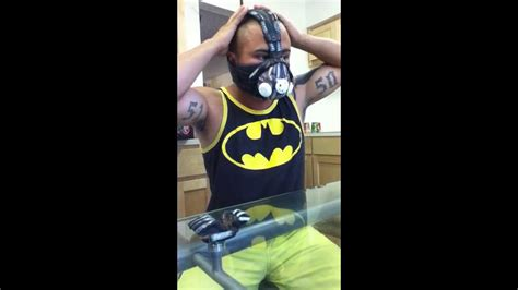 how to turn your mask into a bane mask nathan torres