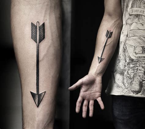arrow tattoo on forearm arrow forearm