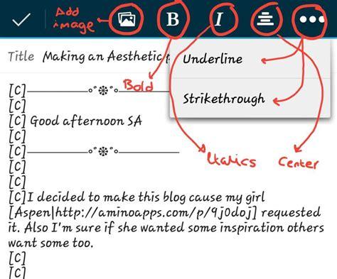 How To Make An Aesthetic Blog Post Studying Amino Amino Amino Bio Template