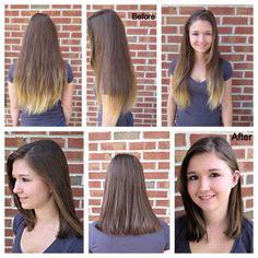 haircuts after hair donation lob haircut before and after donate hair new haircut my