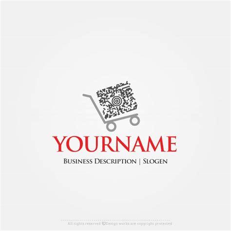 design logo online shop gratis online free logo maker qr code shopping logo design