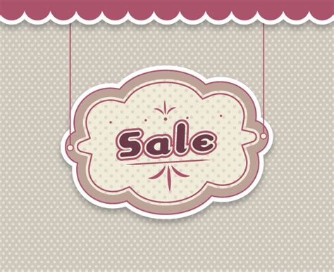 Style Hanging Ls For Sale by Hanging Sale Banner Vector In Vintage Style 123freevectors