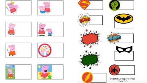 imagenes para etiquetas escolares juveniles vuelta al cole