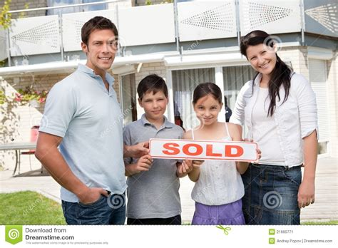 buying house from family happy family buying new house stock photo cartoondealer