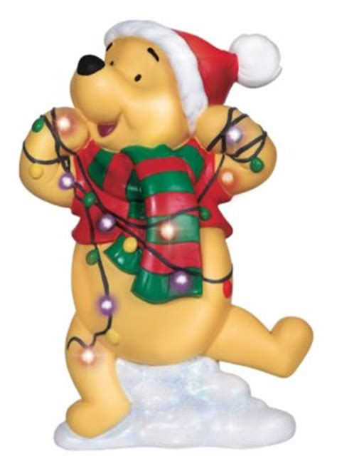 winnie the pooh tangled in tree lights figure from our other collection disney