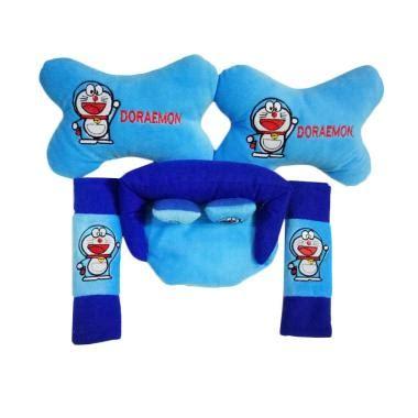 Bantal Mobil Tulang Stitch Blue jual custom 3in1 doraemon set bantal mobil blue harga kualitas terjamin blibli