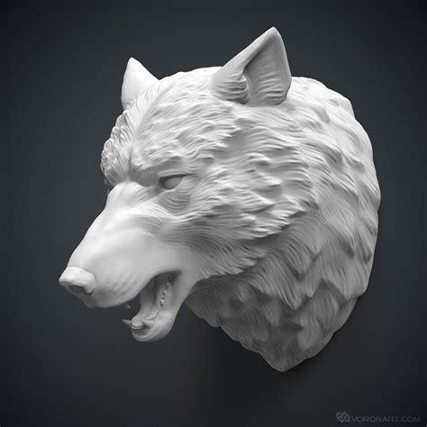 Home Design Job Description wolf head 3d model for 3d printing or cnc carving
