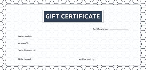 Gift Cards Templates by Free Blank Gift Certificate Template In Adobe Illustrator