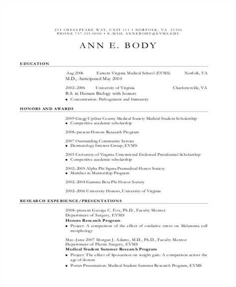 medical cv template 10 sle curriculum vitae templates pdf doc