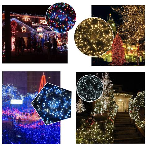 24v 500 led 100m 328 ft string fairy lights christmas tree