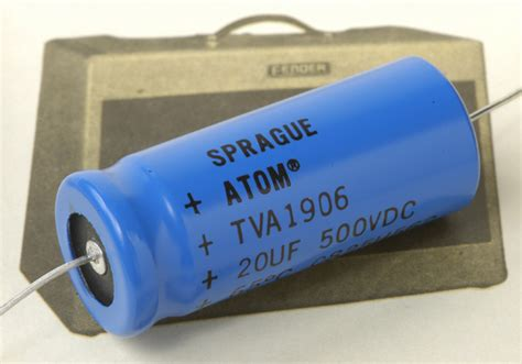 angela capacitor sprague atom tva axial electrolytic capacitor 20uf 500vdc