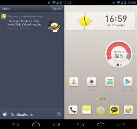 kpop theme launcher kakaohome is a facebook home alternative for korea s