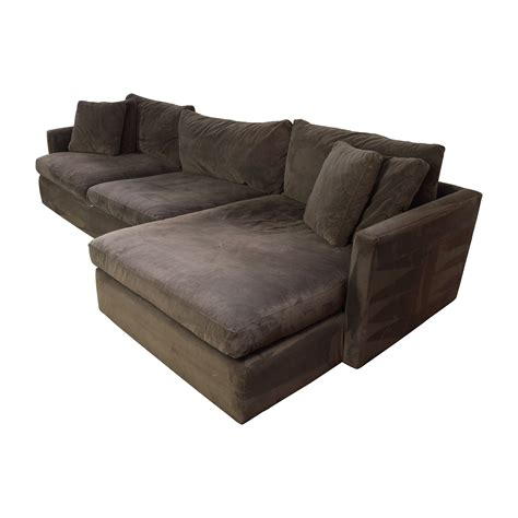 crate and barrel sectional sofas 89 off crate and barrel crate barrel brown left arm