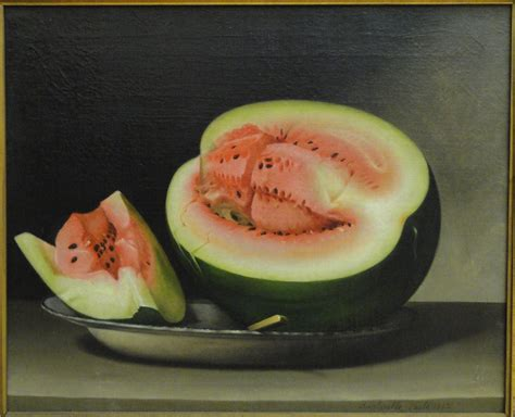 history of the watermelon file still life with watermelon raphaelle peale 1822