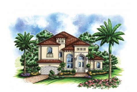 Eplans Mediterranean House Plans Eplans Mediterranean Modern House Plan Small Lot Mediterranean Home 3736 Square And 4