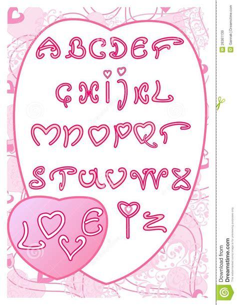 Modeles De Lettre D Amour Romantique L Alphabet De L Amour Images Libres De Droits Image 26361139