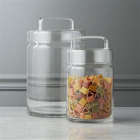 kitchen glass canisters glass apothecary canisters cb2