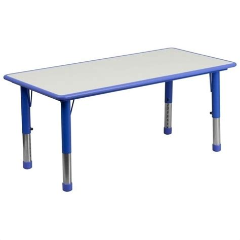Childrens Activity Table by Flash Furniture Plastic Activity Blue Table Ebay