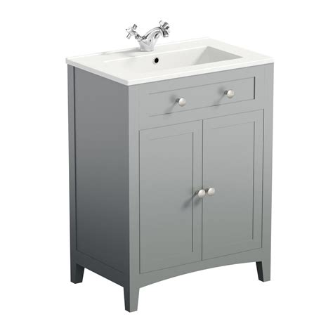 Grey Vanity Unit by The Bath Co Camberley Grey Vanity Unit With Basin 600