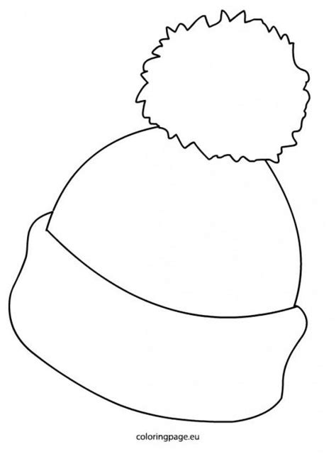 coloring page of winter hat winter cap clipart 25