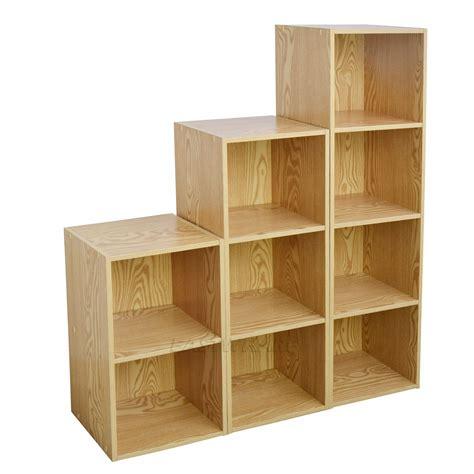 wood shelving units wooden bookcase shelving display storage wood shelf shelves units tiers ebay