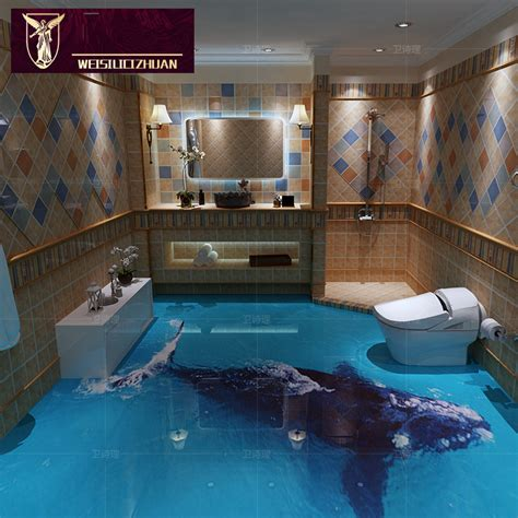 full tile bathroom export products whale 3d floor tiles 3d ceramic tile bathroom kitchen non slip wear