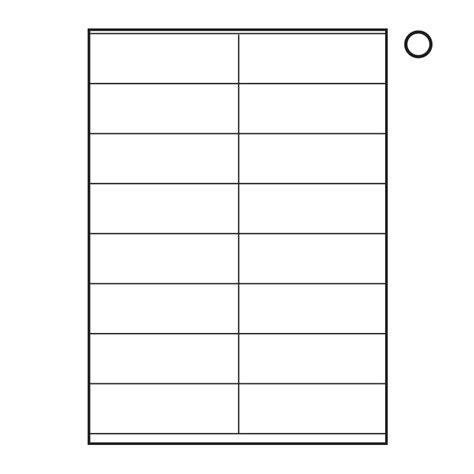 A4 Labels Word Template