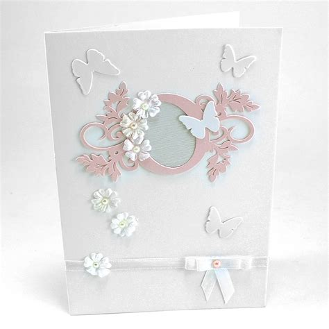 Butterfly Gift Card - maple craft blank handmade baby shower invitation cards with paper cutout flower and